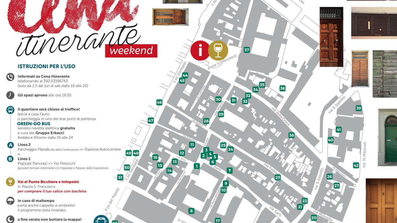 Mappa Cena Itinerante 2016